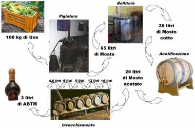 Scheme of production of traditional balsamic vinegar